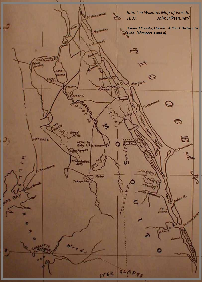 Map Of Florida Showing Vero Beach.Brevard County Florida A Short History To 1955 Historic Images